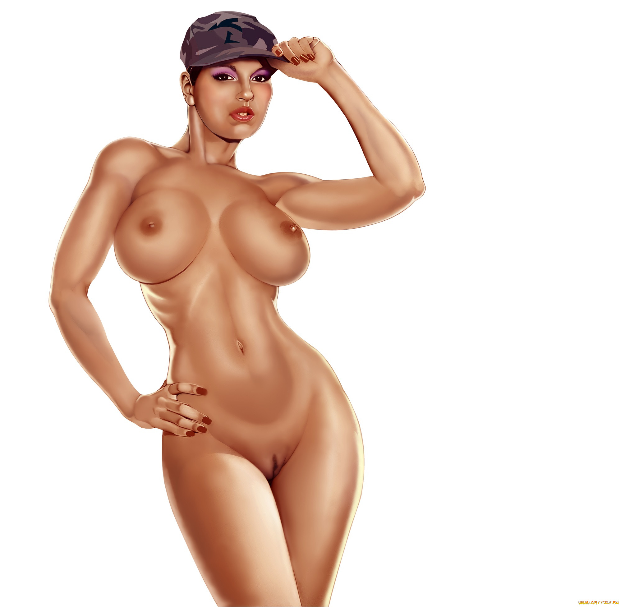 Рисованные эротические женщины 14 фотография